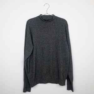 BURBERRY LONDON   Grey Cashmere Mockneck Sweater M